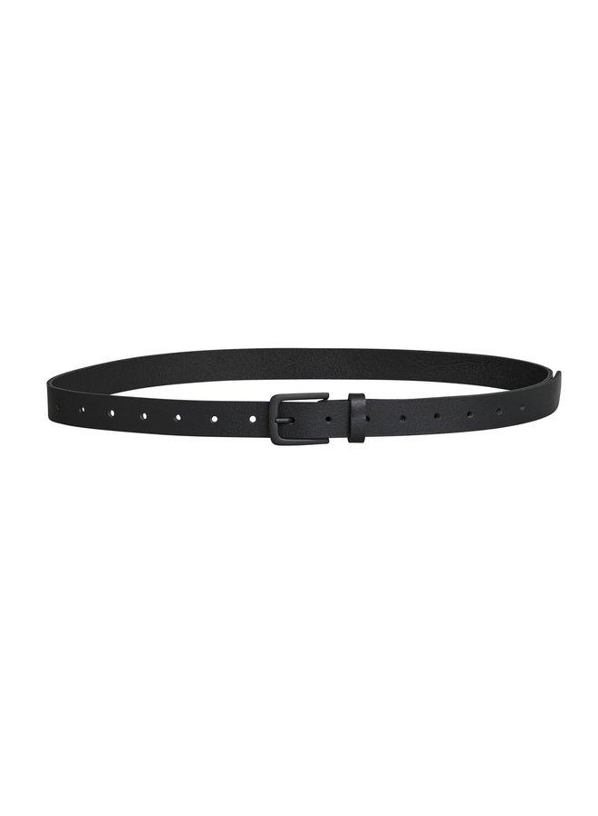 Riem leather belt black