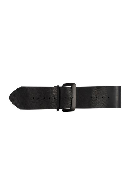 Riem big leather belt black