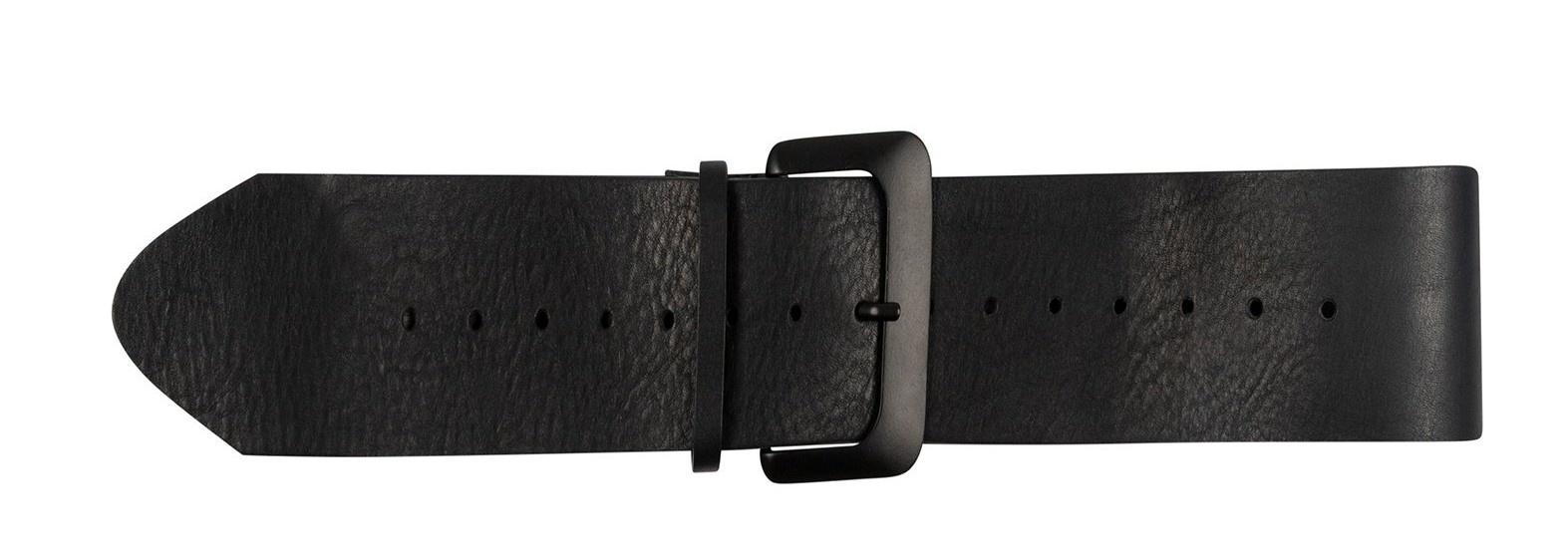 Riem big leather belt black-1