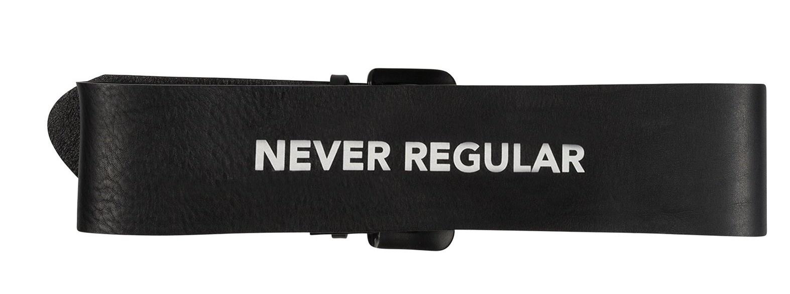 Riem big leather belt black-3
