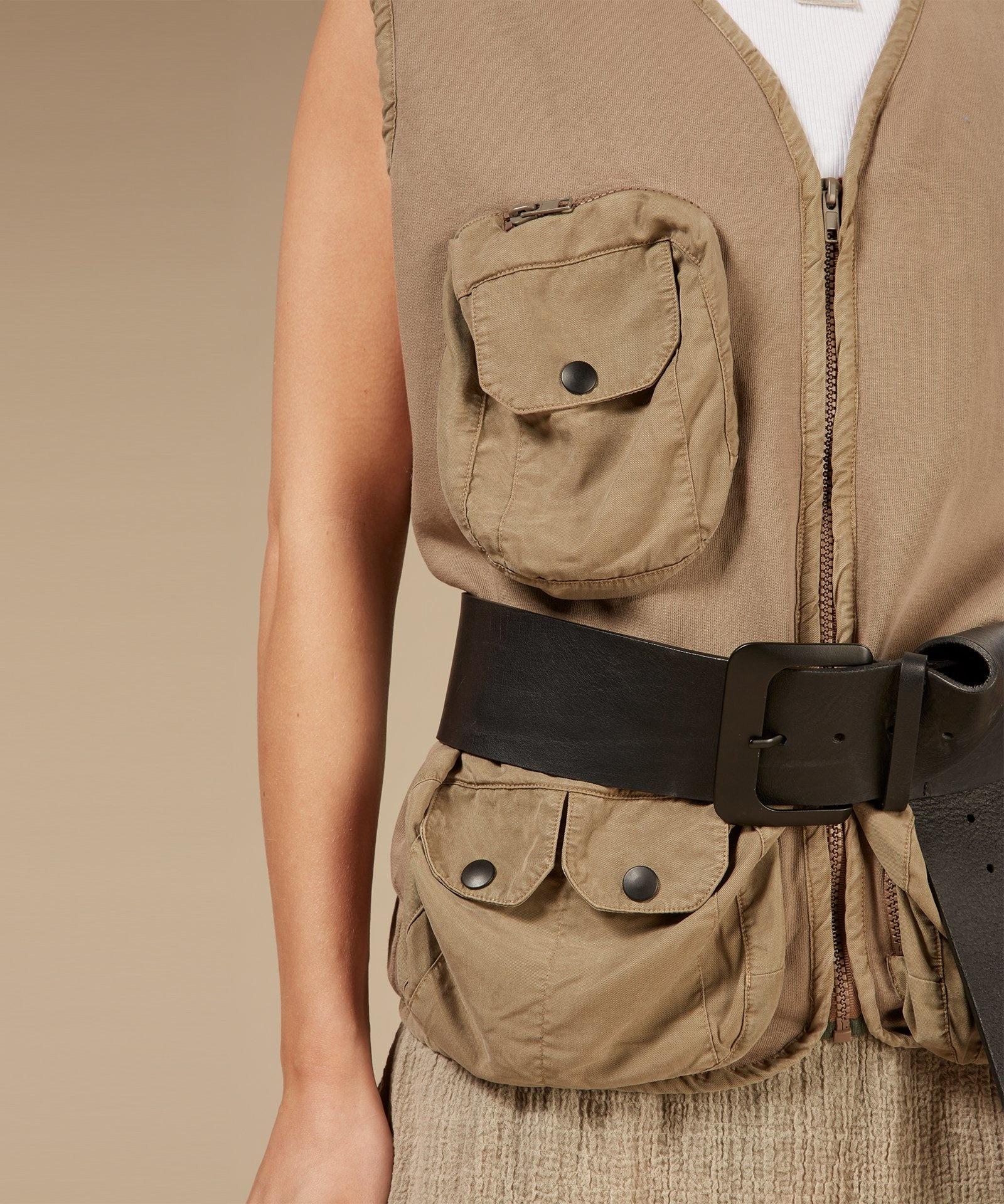 Riem big leather belt black-5