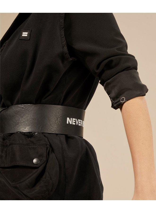 Riem big leather belt black