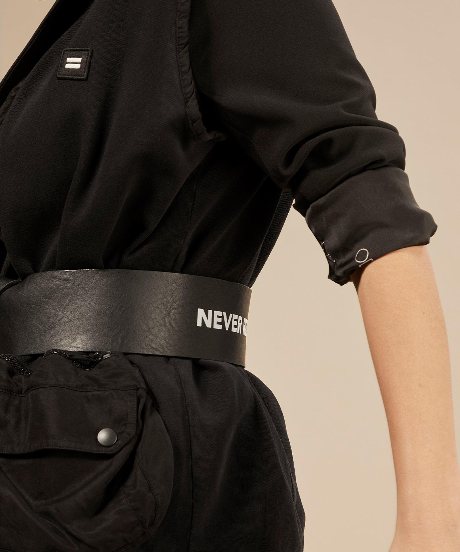 Riem big leather belt black-2