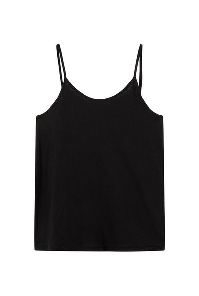 Top adjustable strappy top black