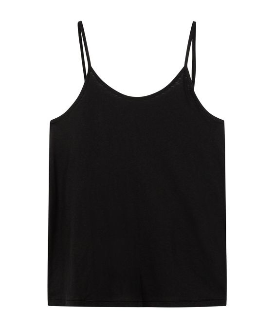 Top adjustable strappy top black-1