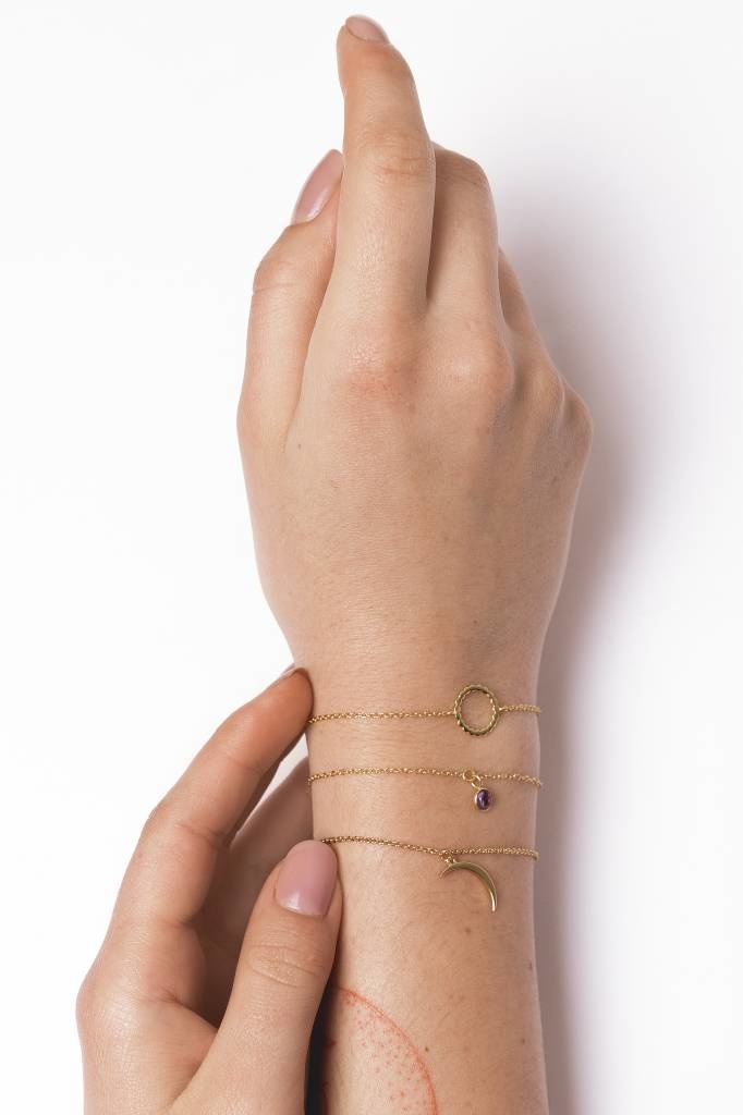 Armband Souvenir Long moon Gold-2