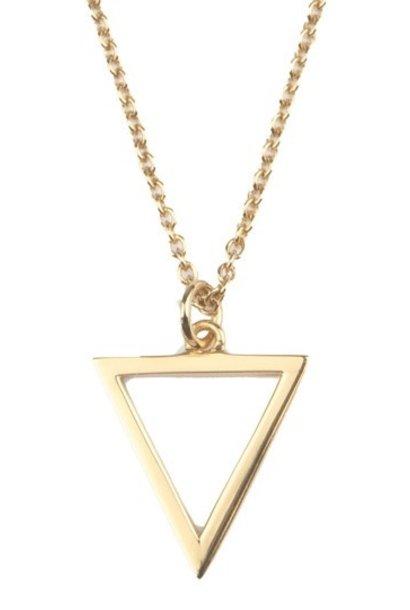 Ketting Souvenir Open Triangle Gold