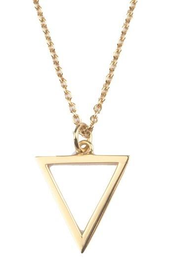 Ketting Souvenir Open Triangle Gold-1