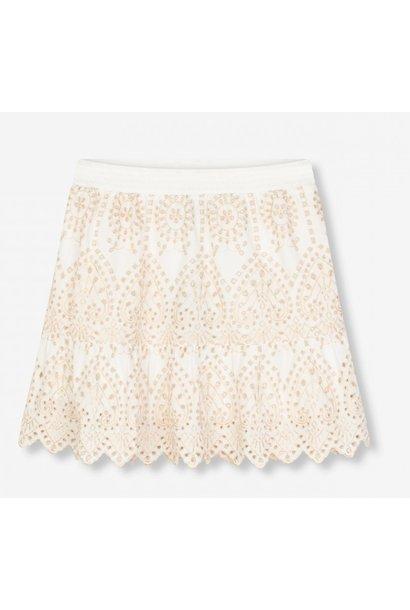 Rok woven broderie skirt soft white