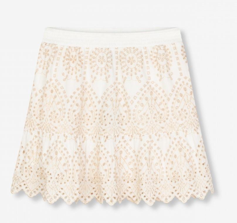 Rok woven broderie skirt soft white-1