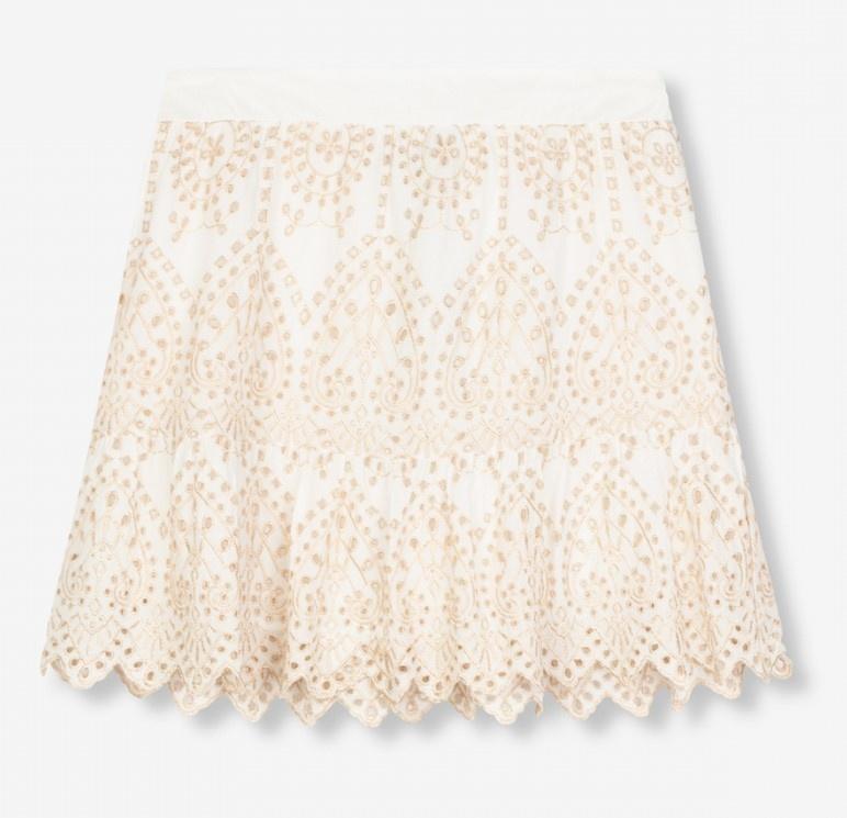Rok woven broderie skirt soft white-3