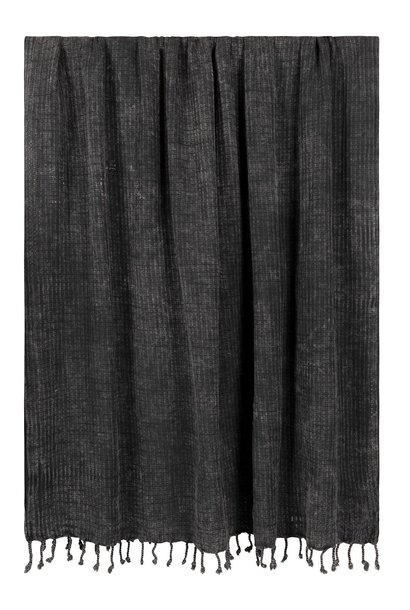 Handdoek hamam towel dark grey/blue