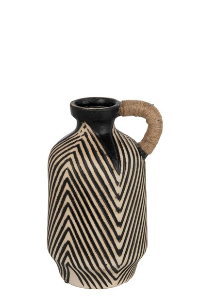 Vaas kruik etnisch keramiek bruin 40cm