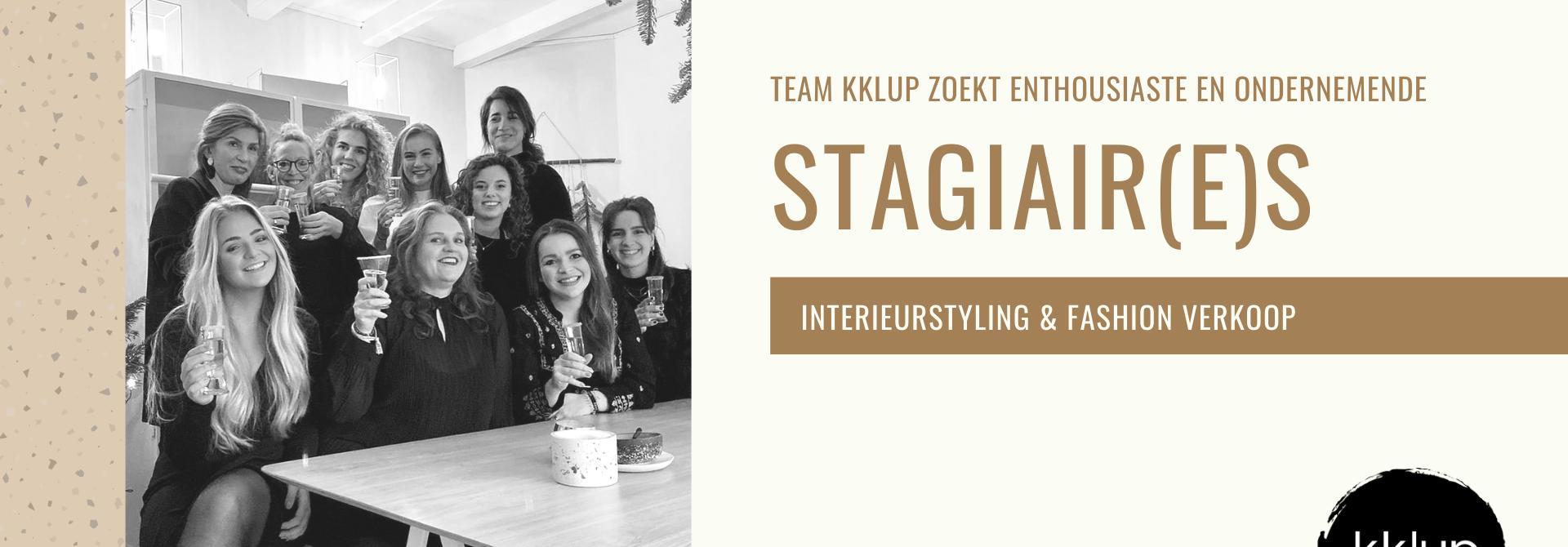 Kklup zoekt enthousiaste en ondernemende stagiair(e)s (Interieurstyling & Fashion Verkoop)