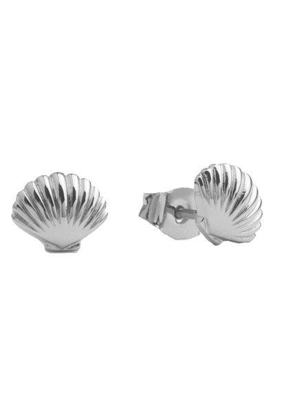 Oorring Parade Sea Shell Silver PER PAAR