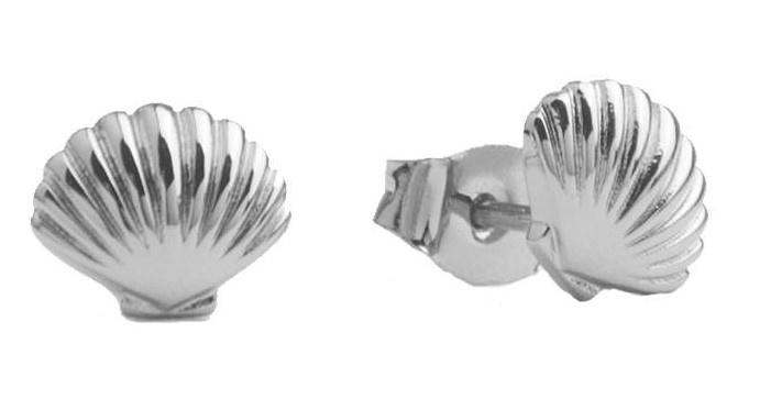 Oorring Parade Sea Shell Silver PER PAAR-1