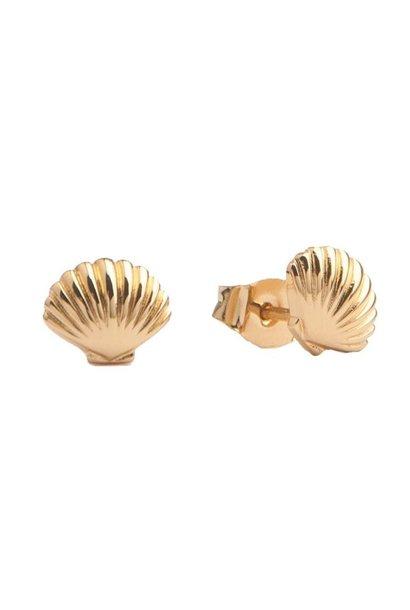 Oorring Parade Sea Shell Gold PER PAAR