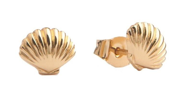 Oorring Parade Sea Shell Gold PER PAAR-1