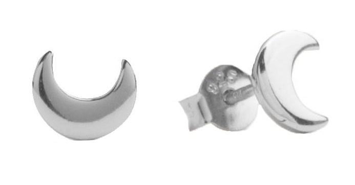 Oorring Parade Moon Silver PER PAAR-1