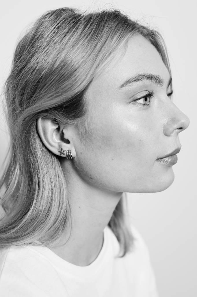 Oorring Bliss PER STUK Earrings 3 Split Silver-2