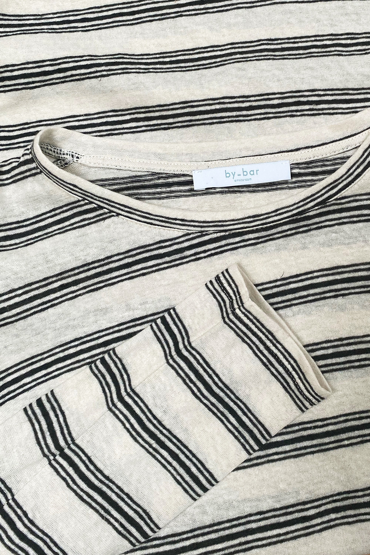 T-shirt lange mouw Maya striped linen-5