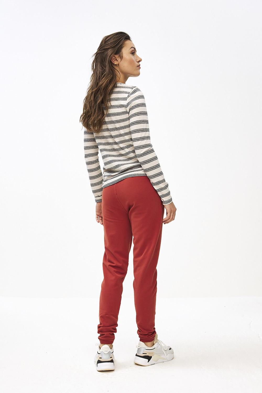 T-shirt lange mouw Maya striped linen-6