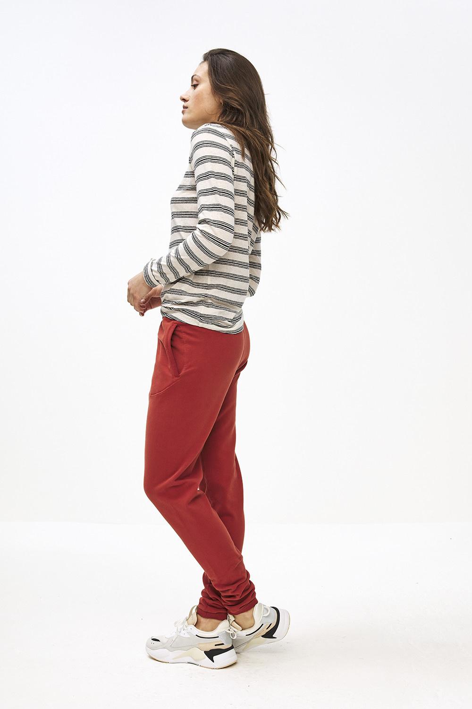 T-shirt lange mouw Maya striped linen-3