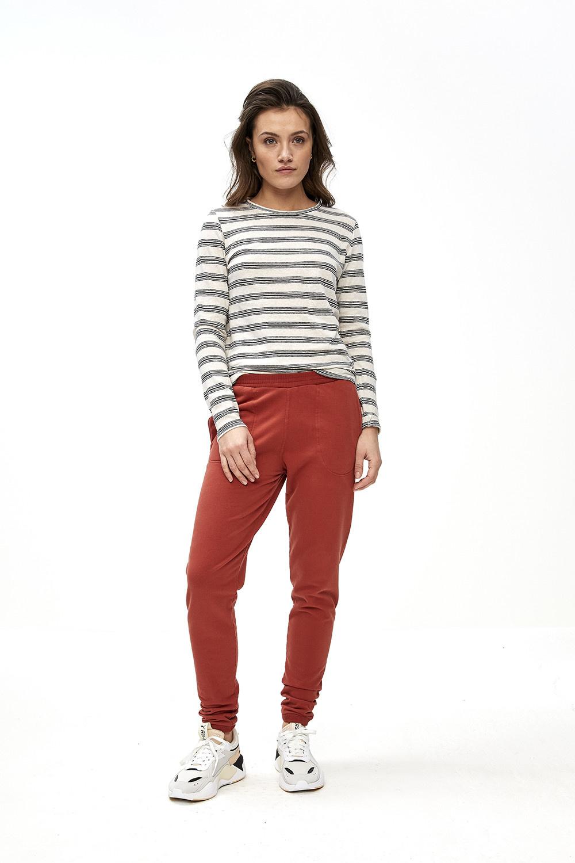 T-shirt lange mouw Maya striped linen-7