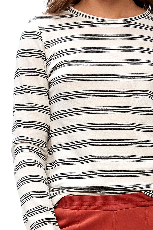 T-shirt lange mouw Maya striped linen-8
