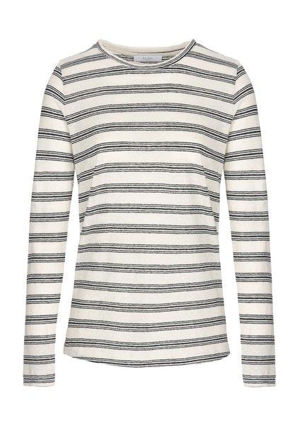 T-shirt lange mouw Maya striped linen