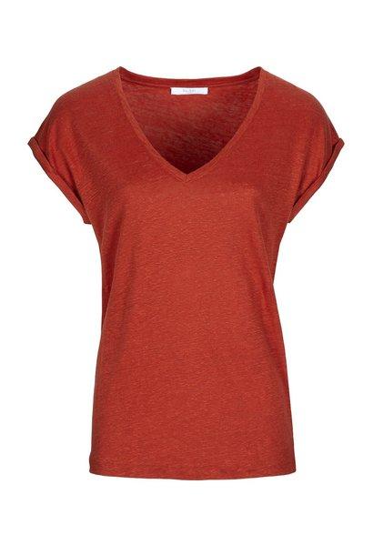 T-shirt mila linen chili