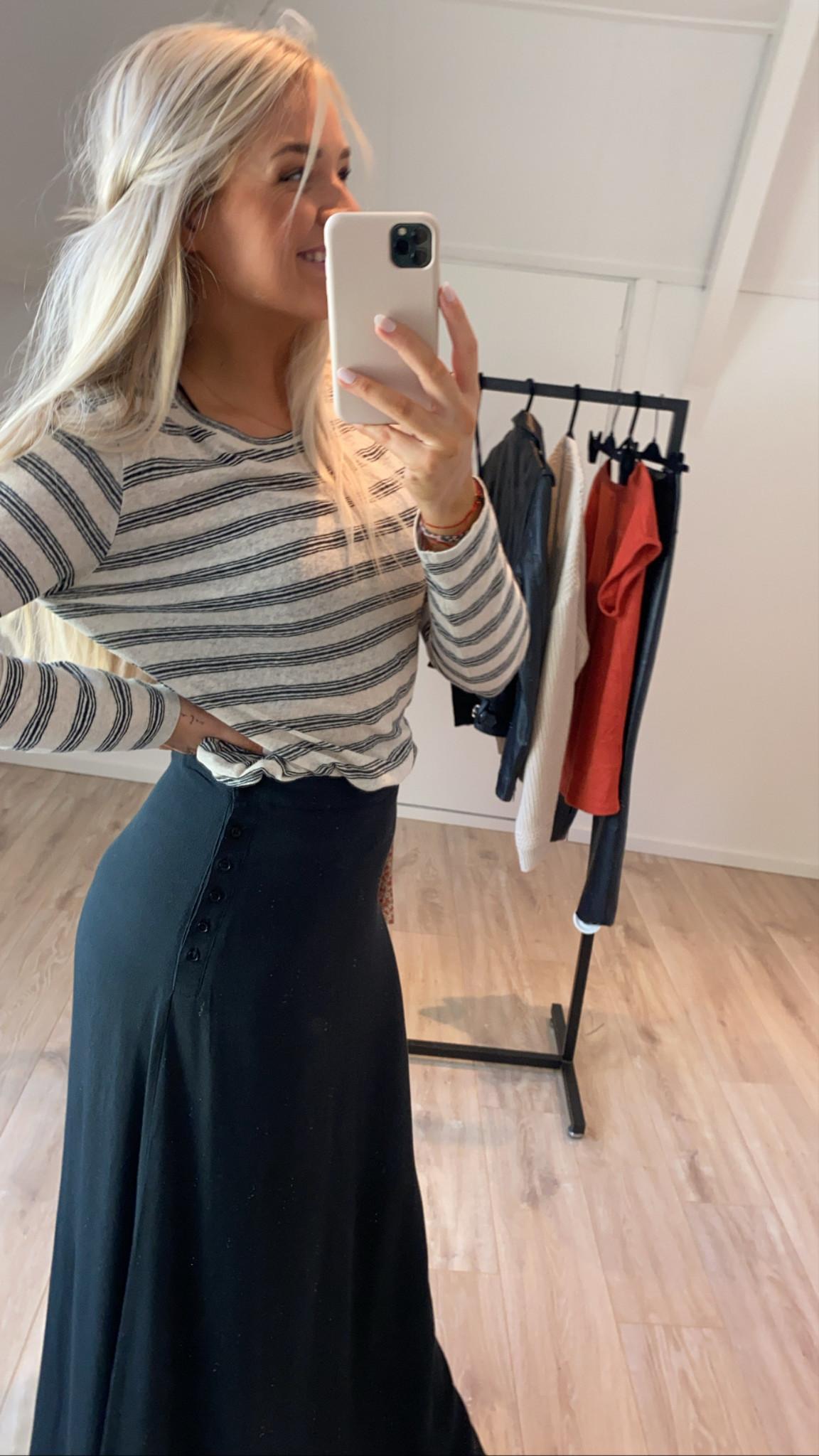 T-shirt lange mouw Maya striped linen-4