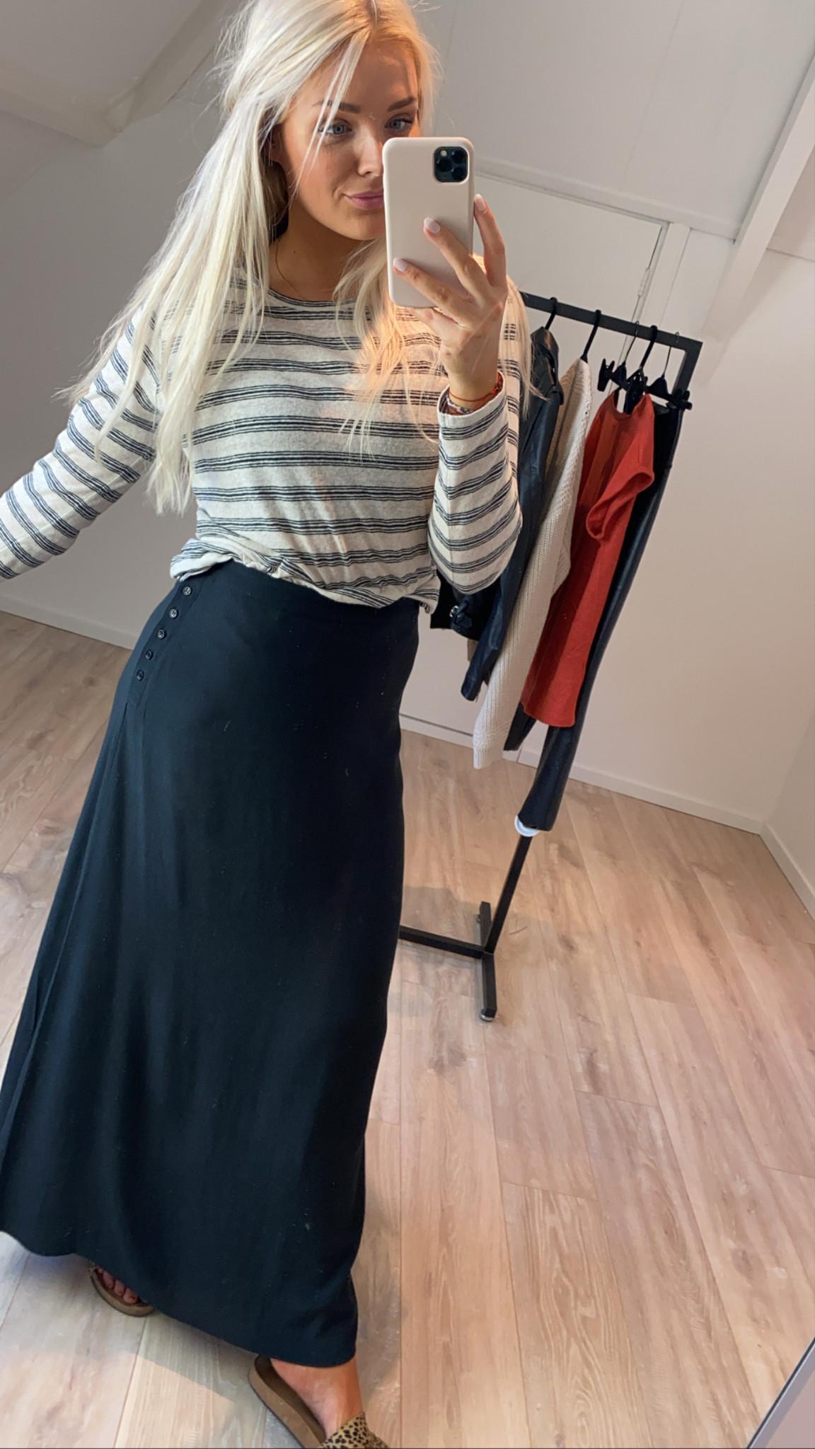 T-shirt lange mouw Maya striped linen-2