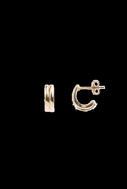 Oorring Bliss PER STUK Earrings 2 Gold