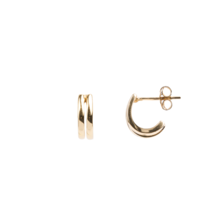 Oorring Bliss PER STUK Earrings 2 Gold-1