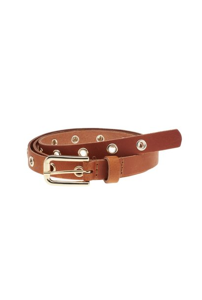 Riem Eyelets Women Cognac Gold ONE SIZE