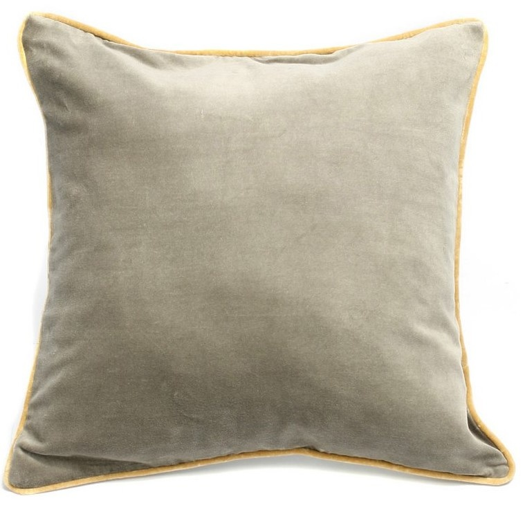 Kussen The Velvet Cushion Grey-1