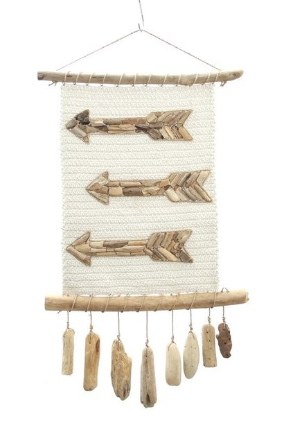 Wanddecoratie The Arrow Macrame Natural