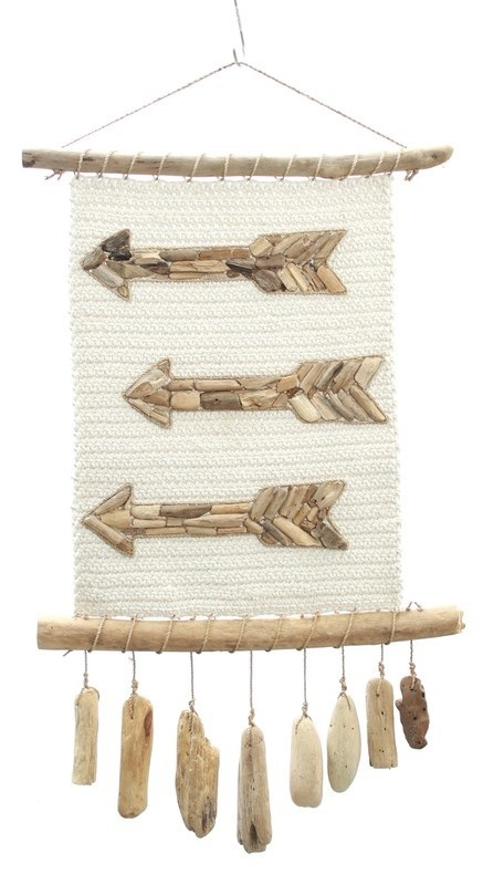 Wanddecoratie The Arrow Macrame Natural-1