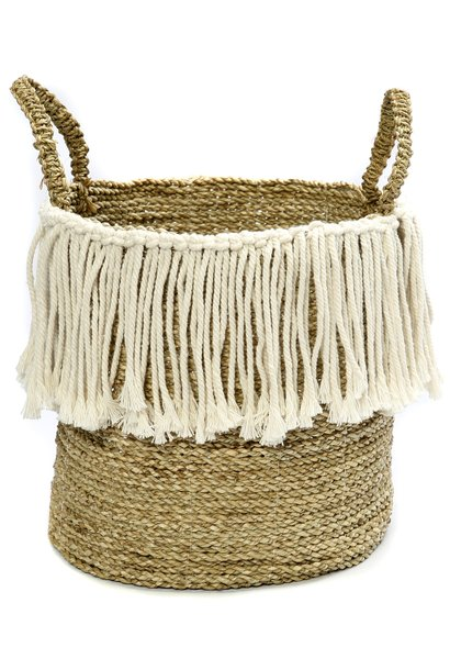 Mand The Fringe Macrame Seagrass with handle Natural