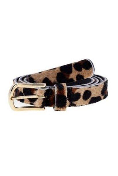 Riem skin belt black leopard 85cm