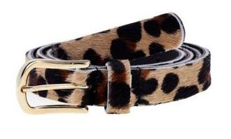 Riem skin belt black leopard 85cm-1