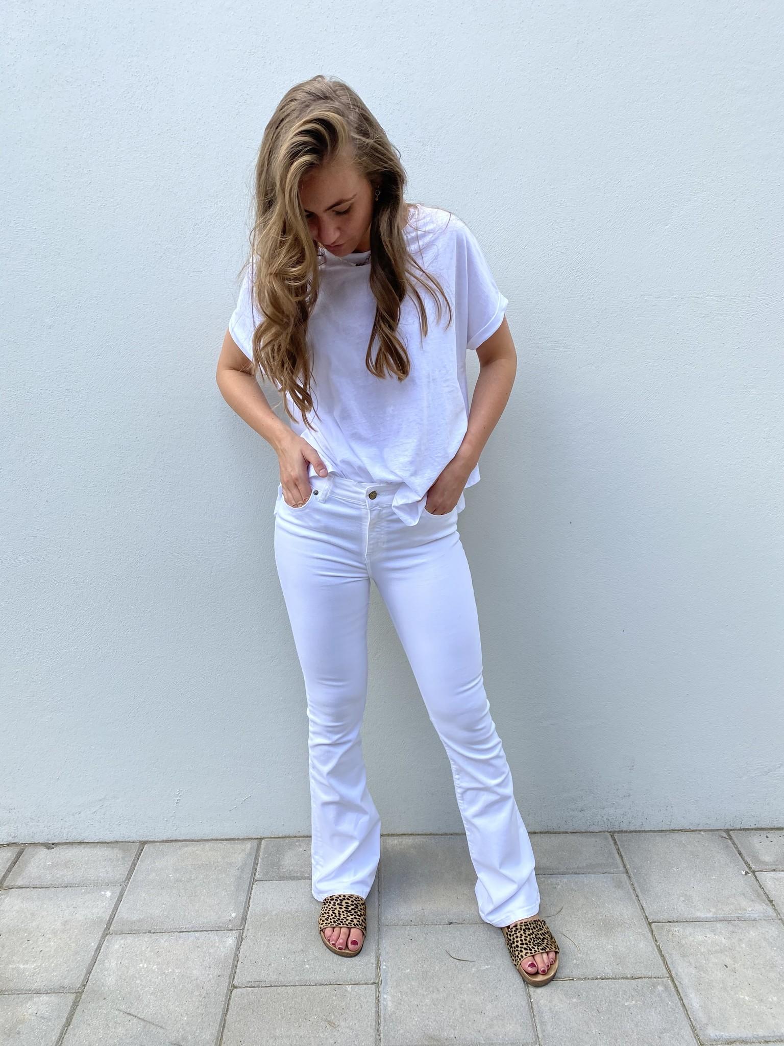 Jeans Megalia Blush lengte 34 white-2