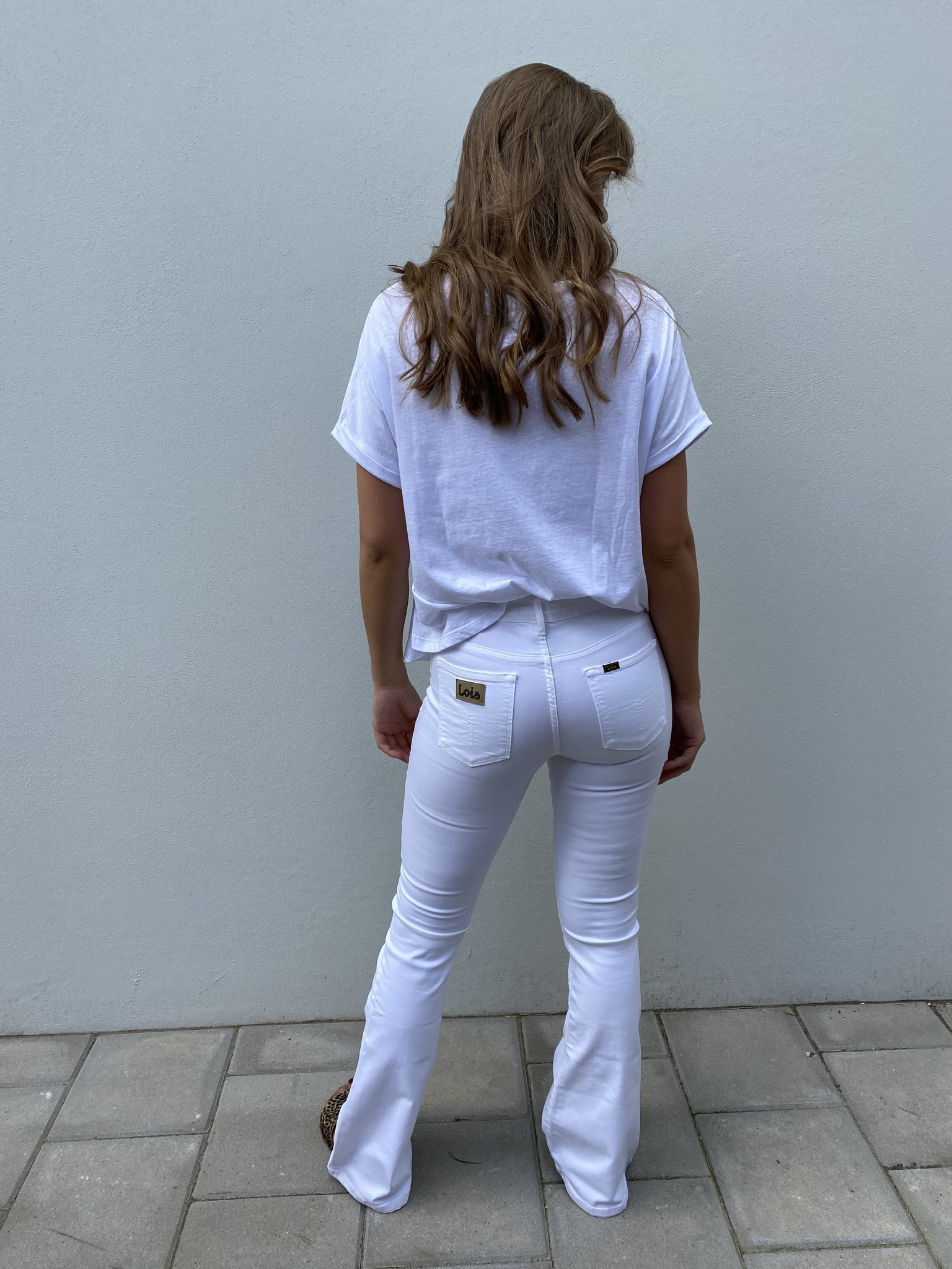 Jeans Megalia Blush lengte 34 white-4
