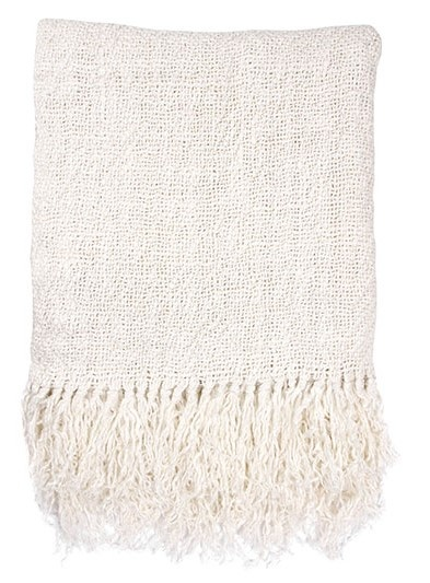 Woondeken linen throw white (130x170cm)-1
