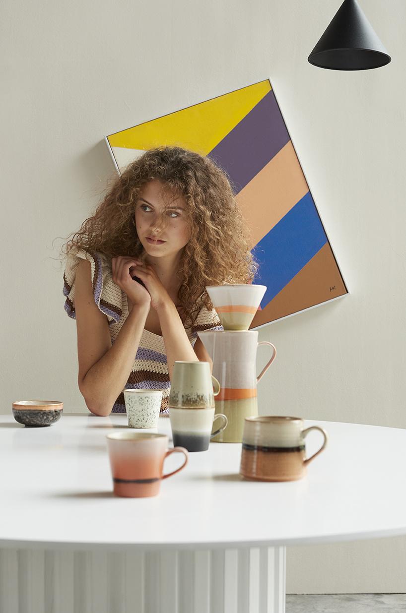 Mokken ceramic 70's americano mugs (set of 4)-3