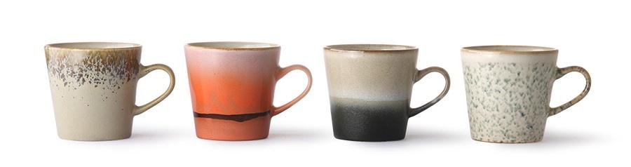 Mokken ceramic 70's americano mugs (set of 4)-4