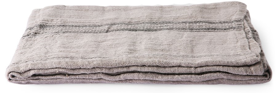 Tafelkleed natural/striped linen table cloth (140x220)-1