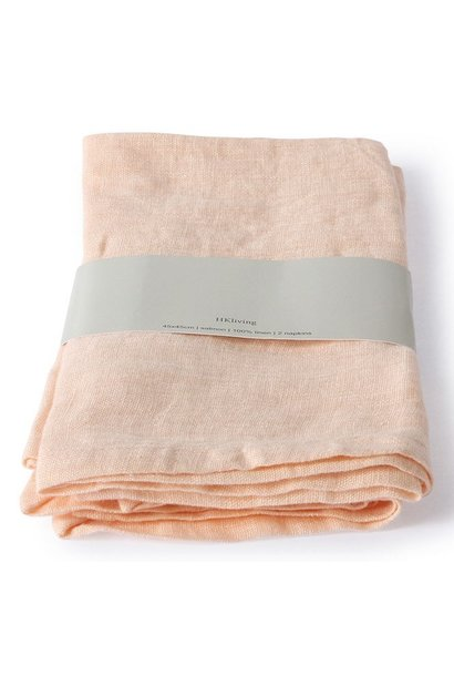Servetten linen napkin salmon set of 2 (45x45)