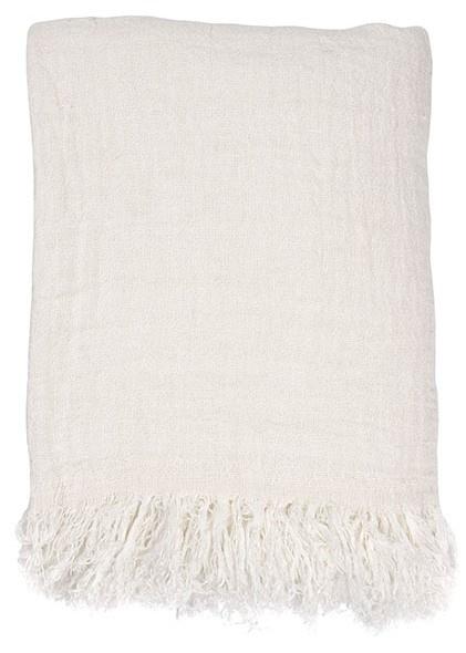 Bedsprei linen bedspread white 270x270-1